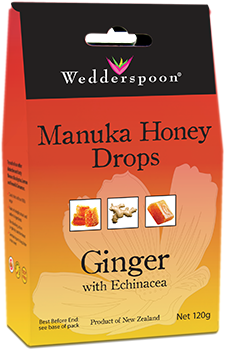 Manuka Honey Drops - Ginger with Echinacea